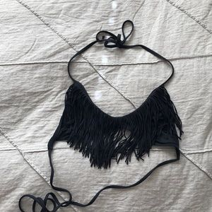 l*space fringe bikini top